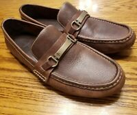 Cole Haan Mens 10.5 Brown Leather Loafers Driving Moccasins Dress Shoes EUC