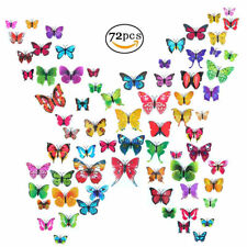 72Pcs 3D Butterfly Removable Mural Stickers Wall Stickers Decal Room Decoration