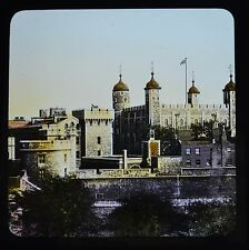 Magic Lantern Slide Colour Tinted Photo The Tower Of London England