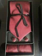 Luxury Silk Necktie Mens Tie, Cufflinks And Handkerchief Gift Set - 3 pcs/Set AU
