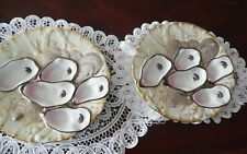 A Pair of Porcelain Turkey Oyster Plates