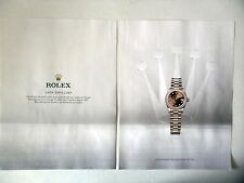 PUBLICITE-ADVERTISING :  ROLEX Oyster Perpetual Lady-Datejust 28 [2pages] 2016