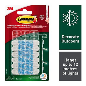 Command 17026H Outdoor Decorating Clips / Hooks / Strips for hanging garden ligh