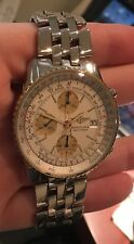 Breitling Old Navitimer II D13022 Silver dial Gold bezel Chronograph Steel Band
