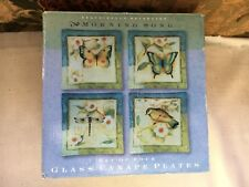 """Certified International Morning Song Canape Butterfly Plates 6"""" New Set of 4"""