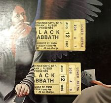 1980 Black Sabbath 2 Ticket Stubs Providence Civic Center DIO Heaven & Hell Tour