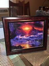 8x10 Finished Sunset Diamond Painting FRAMED
