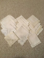 15 Vintage White and lace Hankies