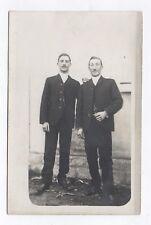CARTE PHOTO ANCIENNE Deux hommes Two men Gay Interest Vers 1910 Homme Mode