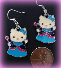 """HELLO KITTY"" Sanrio CAT KITTEN KITTY EARRINGS JEWELRY- Feline Jewelry"