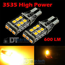 2X T10/192 SMD LED 60W High Power Chip Amber/Yellow Interior Light Bulbs