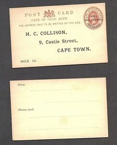 South Africa Cape of Good Hope postal stationery personalised small card unused