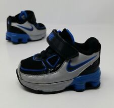 NIKE SHOX Toddler Baby Infant Boy's Sneaker Shoes Blue Silver Size 2C