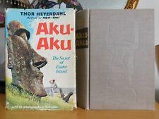AKU-AKU: The Secret of Easter Island ~ Thor Heyerdahl, 1958 1st/1st Hardcover/DJ