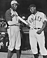 SATCHEL PAIGE & JOSH GIBSON 8X10 PHOTO BASEBALL PICTURE NEGRO LEAGUE GRAYS MONAR