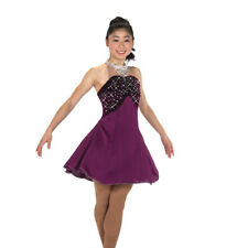 Figure Skating Dress Jerrys 253 Elegant Cocktail Wine Crystals Adult Large