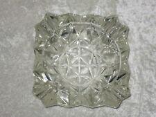 Schwerer Bleikristall Aschenbecher - Eckig - Vintage - 70er Jahre
