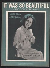 It Was So Beautiful 1932 (And You Were Mine) Connie Boswell Sheet Music