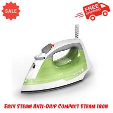 Easy Steam Anti-Drip Compact Steam Iron IR02V Comfortable Ergonomic Handle Green