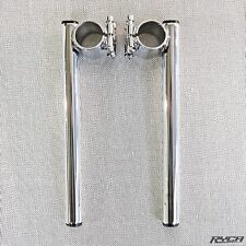"1"" Motorcycle Clip On Handlebars Chrome Harley Sportster clipon 39mm Dimpled"