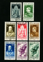 Vatican Stamps # 47-54 VF Used Scott Value $93.00