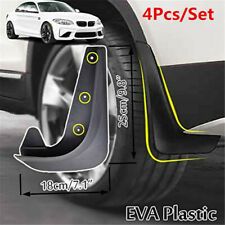 4Pcs Moulded Universal Mud Flaps Mudflaps EVA Plastic Front or Rear Fit For Car