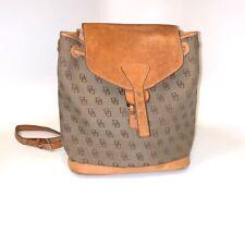 Vintage Dooney & Bourke DB Signature Tan Beige Brown Bag