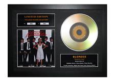 More details for blondie signed gold disc album ltd edition framed picture memorabilia