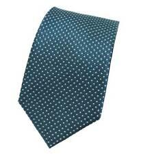 Cravatta uomo classica elegante 100% SETA linea fantasia LANCETTI b383 petrolio
