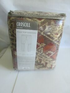 "Croscill Salida Pole Top Drapery Curtains Multi 82""x84"" Set of 2 w/ Tie Backs"