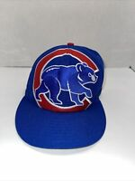 Chicago Cubs New Era 59Fifty Blue hat bear logo. Fitted 7 5/8 size. MLB