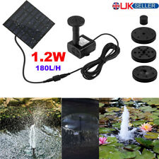 180L/H Solar Panel Powered Water Feature Pump Garden Pool Pond Fountain Aquarium