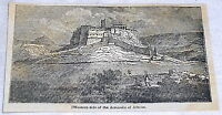 1832 magazine engraving ~ western side of the ACROPOLIS OF ATHENS