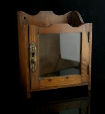More details for antique edwardian oak smokers cabinet, pipe rack