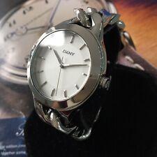Ladies DKNY Watch CHAMBERS NY2216 Steel Curb Link Bracelet Silver Dial Genuine