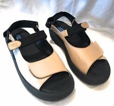 Wolky Ladies Beige Leather Adjustable Strap Comfort Sandals 41
