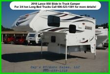 2018 Lance 850 Slide In Pick Up Truck Camper Long Bed 3/4 Ton 1/2 Ton New RV