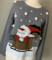 Carolyn Taylor Vintage Santa Ugly Christmas Sweater, Size Large