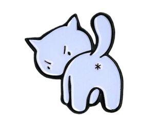 "Kitty Enamel Lapel PIN - 7/8"" x 7/8"" - E1002 - Yujean & EvilKid"