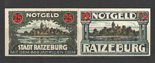 German NOTGELD RATZEBURG L1071 Complete Set of 2 UNC