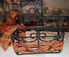 Henn Forge Wrought Iron hanging rack with ribbon