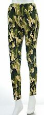 Size 6-12 Bnwt Camouflage Camo Skinny Print Leggings Stretch Pants Girls *LICK*