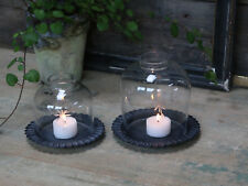 Chic Antique Windlicht Hurricane Kerzenleuchter Teelichthalter Shabby Chic gr