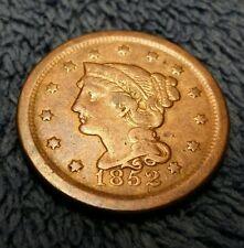 1852 Large Cent USA COIN BRAIDED HAIR NICE COIN!