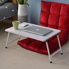 High Gloss White Portable Bed Folding Lap Desk Laptop Table Stand Breakfast