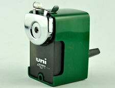 VINTAGE MITSUBISHI UNI PENCIL SHARPENER GREEN COLOUR SCHOOL JAPAN