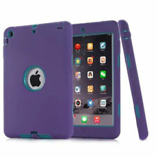 iPad 2 3 4 Air 2 & MINI Defender Case Three Piece Hybrid Tough Shockproof Cover