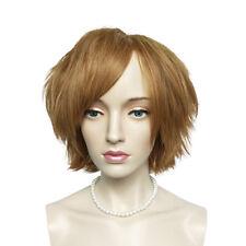 Bob Short Cosplay Wig Anime Light Brown Wig Heat Resisitant With Bangs Wig Cap