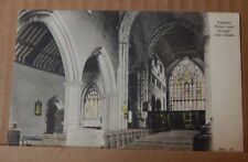 Postcard Cartmel Priory near Grange over Sands tinted card unposted