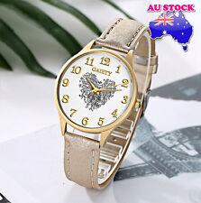 Wholesale Grey Leather Love Heart White Dial Quartz Women Lady Wrist Watch